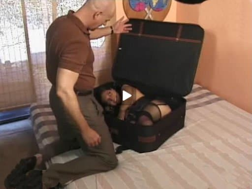 "Photo via pornhubA guy walks into a hotel room with a suitcase. He puts the suitcase carefully on the bed and opens it. A midget crawls out of it and they proceed to have sex. Once he ""finishes"", the midget takes her tiny little body and crawls back into the suitcase. He closes it up and walks out of the hotel room carrying it. More on the Midget. I was also very intrigued. I think the oddest bit was when the guy just drops the suitcase off in an alley and then another guy comes along, picks it up and rinse and repeat"