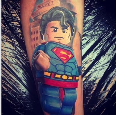 This amazing Lego Superman, and many of the other Lego characters in this gallery, was done by Max Pniewski.