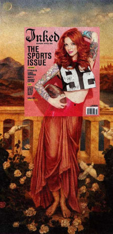 Vanessa Lake from our 2013 Sports Issue looks phenomenal as part of Evelyn de Morgan's Helen of Troy.