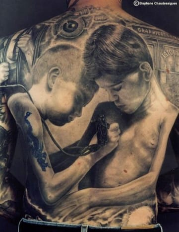 This insane piece was done by Stephane Chaudesaigues.