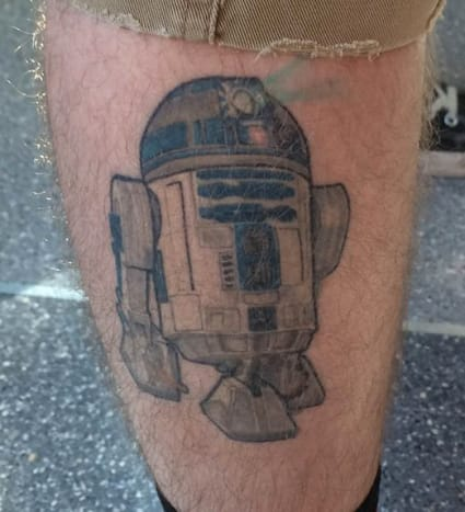 This R2-D2 belongs to Tommy LoMaglio. It's one of three Star Wars pieces he has had done at VooDoo Monkey in Rochester NY.
