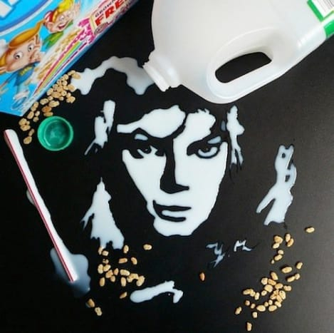 Michael Jackson made out of milk.