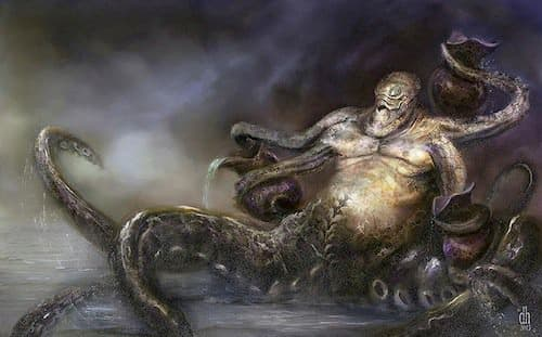 Aquarius Also known as the water-bearer, you would not want to run into this octopus-like rendition after a ship wreck.