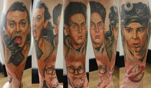 This sleeve features Ramis as Egon alongside the rest of the Ghostbusters and their secretary (and Egon's love interest) Janine.