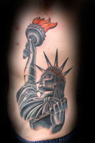 The Statue of Liberty is located in New Jersey, not New York. However, parts of Liberty Island do belong to New York.