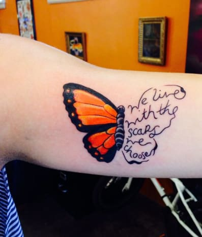 butterfly recovery tattoo