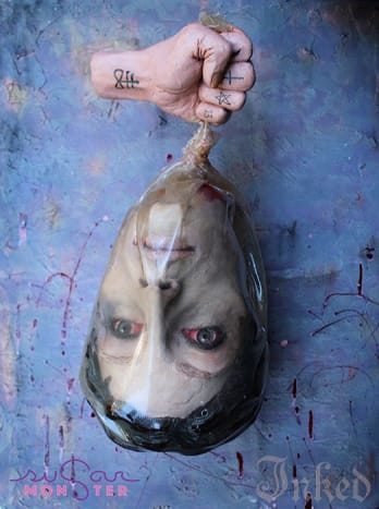 Ashley Holt of Sugar Monster Sweets made this cake so incredibly life-like that we almost want to report her to the police. Who are we to say this isn't a real severed head? Great job!