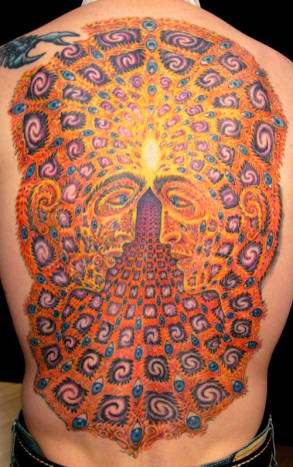 One by Alex Grey tattooed by Andy K at Omega Point Tattoo.