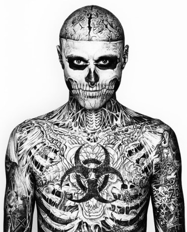 Rick Genest, better known as Zombie Boy, is one of our favorites.