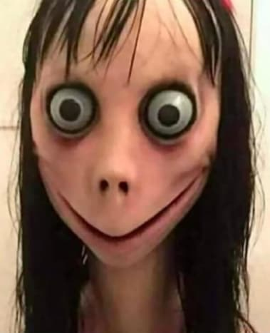 Momo is the name of a viral internet trend that features this very haunting photo. The Momo Challenge first began in early August of 2018 and involves people texting a mystery number on WhatsApp, where they would get a response of graphic images and instructions for dangerous tasks sent back.