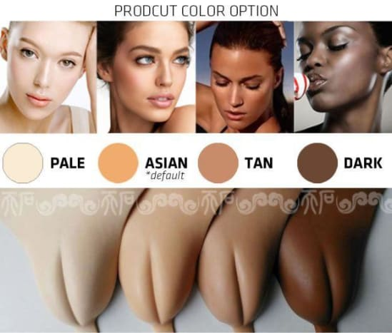 """Photo via redditThey come in a range of skin tones, in case you want to show off your prosthetic vaginal lips to your friends and family and need it to look """"natural""""?! """"I wear the underwear, because I think it's sexy for guys to see your vagina, without really seeing it. You know what I mean?"""" — Carol G."""