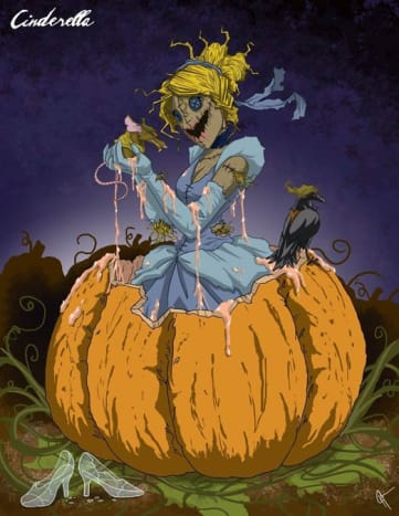 Cinderella certainly doesn't look like the bell of the ball here.