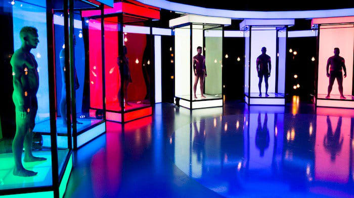 Naked Attraction is a dating reality show based in the UK. It features two clothed contestants selecting a potential date based on their naked anatomy.