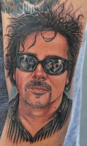 This is an amazing Tim Burton tribute tattoo.