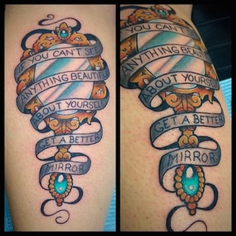Great quote! (Tattoo by Alex Santaloci)