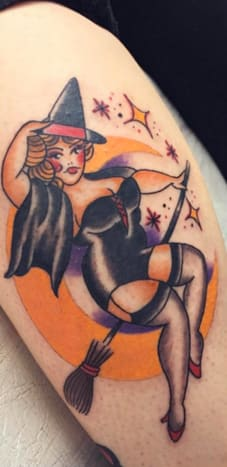 This curvy witch is boo-tiful by More Than Ink