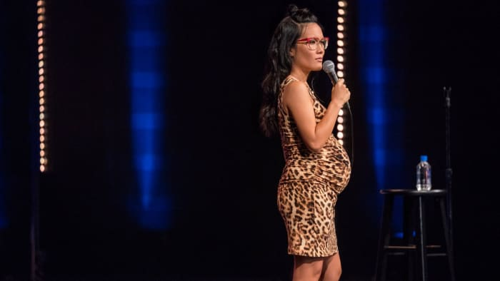 Ali Wong is a 36-year-old comedian best known for her two Netflix specials: Baby Cobra and Hard Knock Wife. In both of her specials, she performs 7 months pregnant with her first and second children.