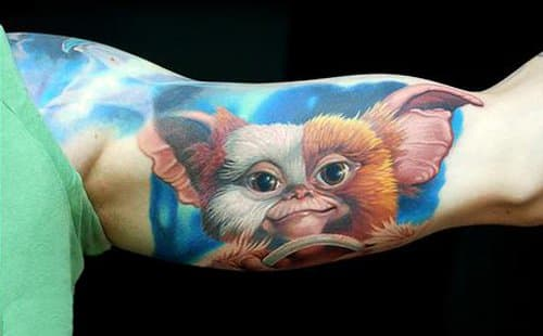 Gizmo is such a cutie pie. (Tattoo artist: Oleg Turyanskiy)