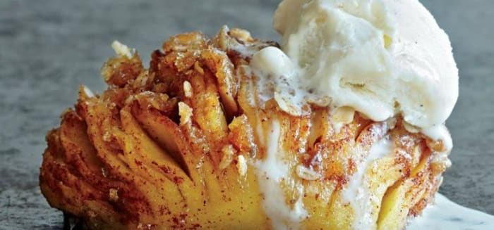 Hasselback Baked Appleswill complete you.