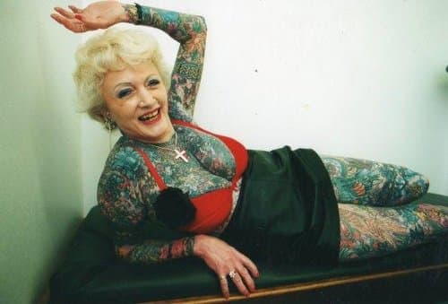 Isobel Verley is one of the most tattooed senior citizens in the world.