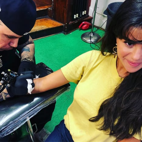 This first tattoo to get tattooed this weekend was America's Sweetheart and Instagram's Most Followed—Selena Gomez.