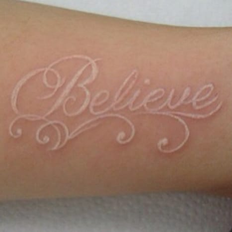 Sometimes everyone needs a little affirmation, this tattoo provides a subtle reminder to the owner.
