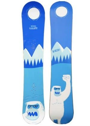 Davis picked this board as one of his favorites; we wonder if he has ever run into a Yeti while snowboarding.