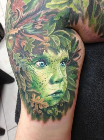 We turned green with envy when we saw this amazing tattoo.