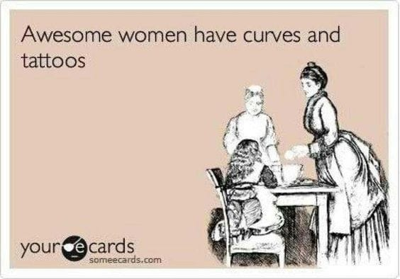 awesome women have tattoos curves
