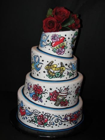 This beautiful cake was made by Cathy's Custom Cakes in Pittsburgh.