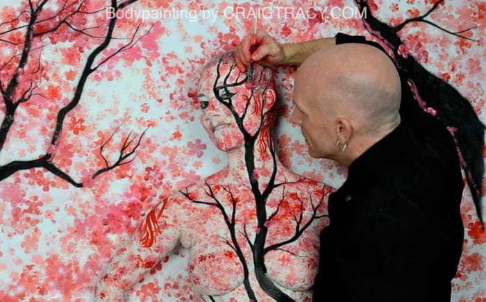 May (Blossoms)-Bodypainting by Craig Tracy (Behind-The-Scenes)