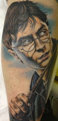 Check out the amazing work on this portrait of Daniel Radcliffe as Harry Potter.