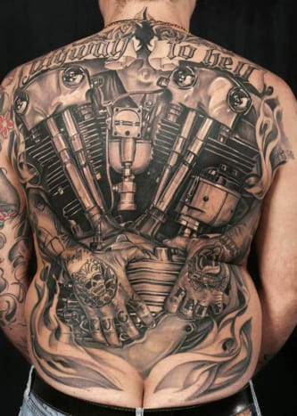An unbelievable back piece by Antonio Proietti.