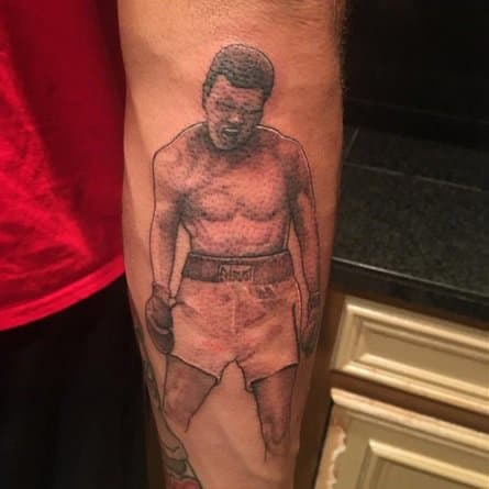 Mike Evans' Ali tattoo.