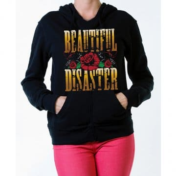 "Available at INKEDSHOP.COM: Women's ""GNR"" Pullover Hoodie by Beautiful Disaster"
