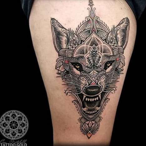 This beautifully artistic take on the majestic wolf is the work of Coen Mitchell.