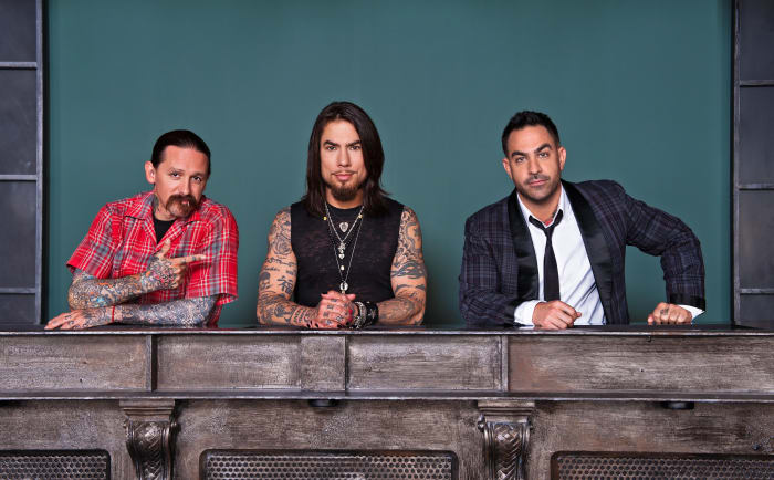 Since January of 2012, Oliver Peck, Chris Nuñez, and Dave Navarro have acted as judges on the reality tv competition Ink Master.