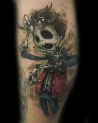 Marty McFly seems to have taken a trip to Halloween Town. (Tattoo by Kyle A. Scarborough)