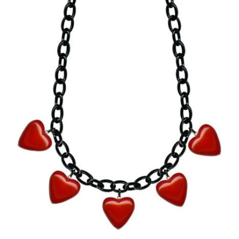 2 Bubble Hearts Retrolite Necklace by Classic Hardware