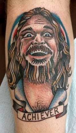"The Dude may not have been TIME's ""Man of the Year,"" but this awesome tattoo was certainly penned by a little achiever."