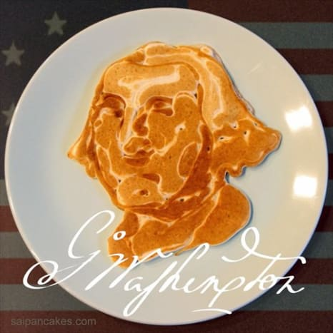 This George Washington pancake is perfect for today.