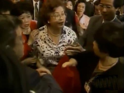 Photo via youtubeThese two prim and proper Taiwanese women are about to square off!