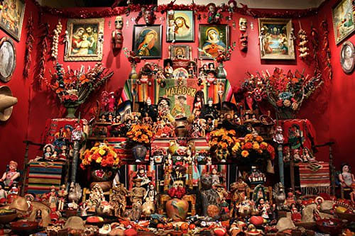 Elaborate altars are a key component in observing the Day of the Dead.