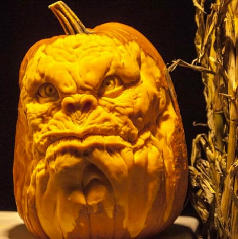 This monsterous face was carved by Jon Neill.
