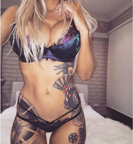 Aurora Ivy's body is the perfect tattoo canvas.