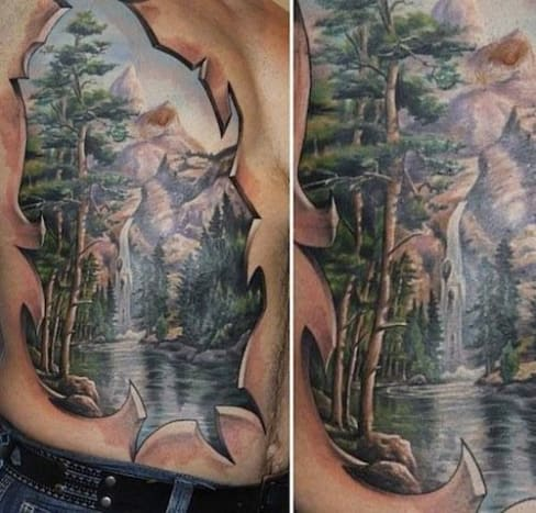 This 3d forest scene looks almost like a photo beneath the skin.
