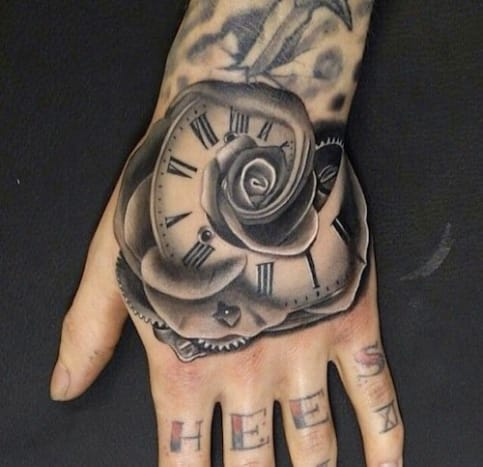 This morphing rose-clock was done by Andres Acosta.