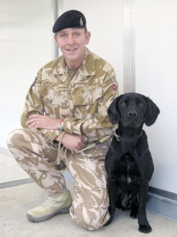 Sgt. Dave Heyhoe and Treo.