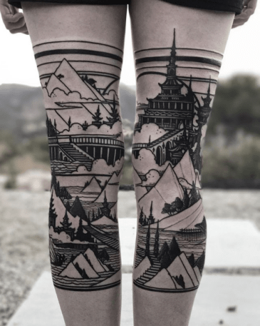 He's a tattoo artist from Los Angeles who has obtained international success for his castle motifs.
