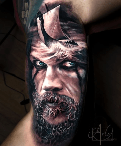 Tattoo by @arlotattoosAs you may have noticed, old men are a popular subject matter for tattoo artists.